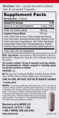 Natrol Cognium Focus Capsules Perspective: right
