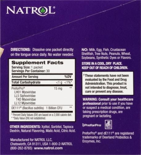 Natrol Orange Immune-Biotic Packs Perspective: right
