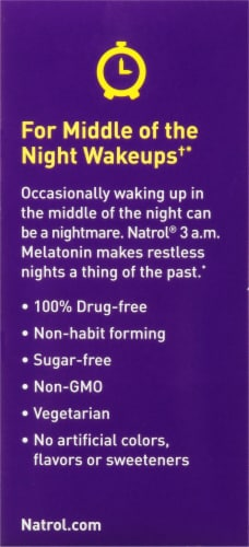 Natrol® 3 am Melatonin Sleep Tablets Perspective: right