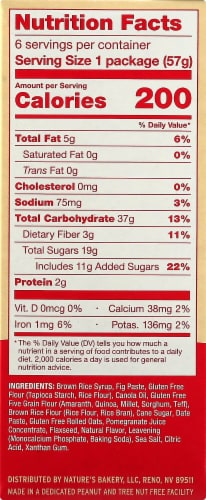 Nature's Bakery Gluten Free Pomegranate Fig Bars 6 Count Perspective: right