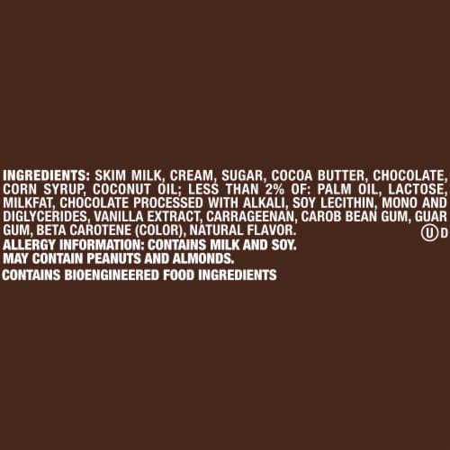 Dove Chocolate Vanilla Ice Cream with Milk Chocolate Bars Perspective: right