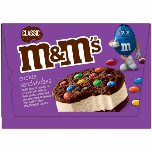M&M's Classic Ice Cream Cookie Sandwiches Perspective: right