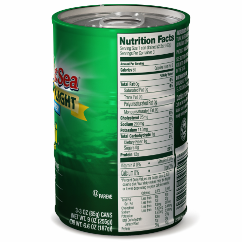Chicken of the Sea Chunk Light Tuna In Water Mini Cans Perspective: right