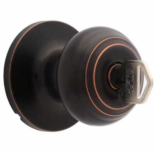 Atlas Oil Rubbed Bronze Entry Ball Door Knob Perspective: right