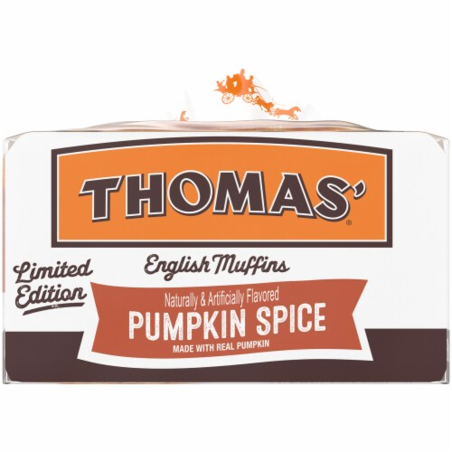 Thomas'® Limited Edition Pumpkin Spice English Muffins Perspective: right