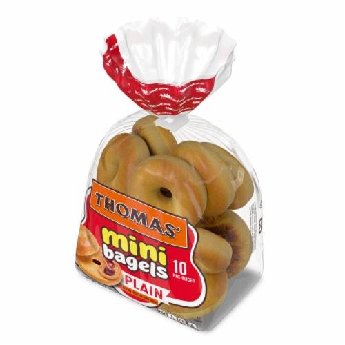 Thomas' Plain Mini Bagels Perspective: right