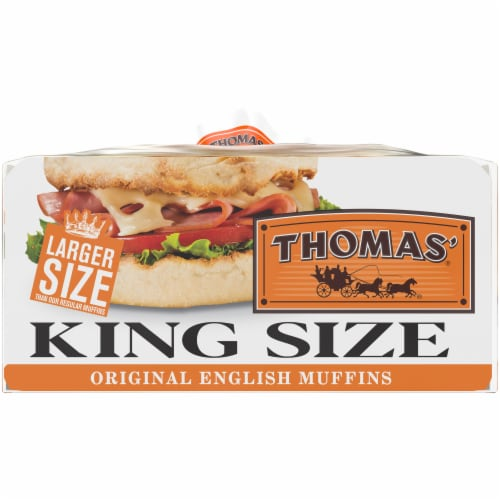Thomas' King Size Original English Muffins Perspective: right