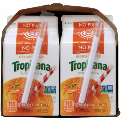 Tropicana Orange Juice No Pulp 6 Pack Perspective: right