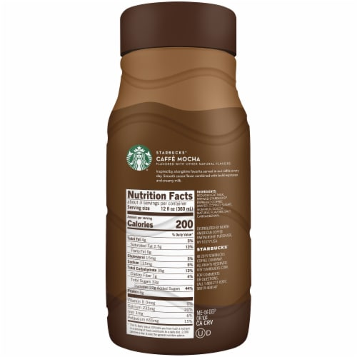 Starbucks Skinny Café Mocha Chilled Espresso Coffee Bottle Perspective: right