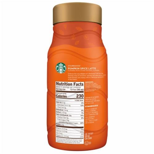 Starbucks Pumpkin Spice Latte Chilled Espresso Beverage Perspective: right