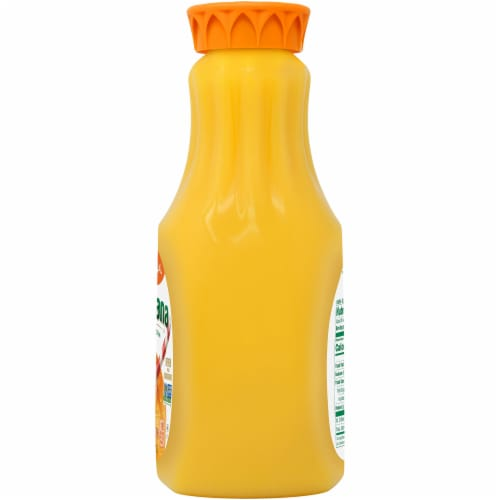 Tropicana Orange Juice No Pulp 52 oz Bottle Perspective: right
