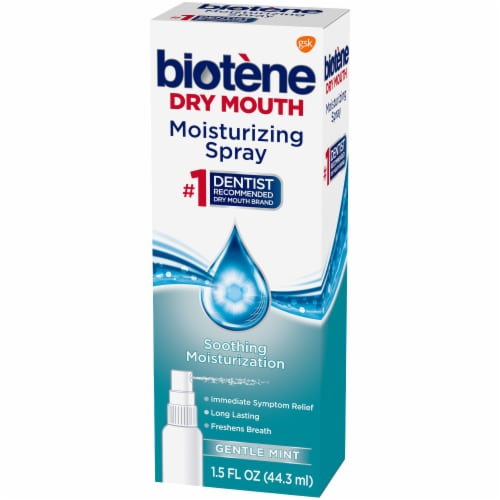 Biotene Dry Mouth Gentle Mint Moisturizing Mouth Spray Perspective: right