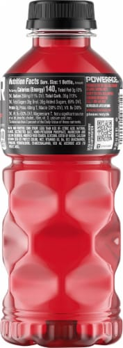 Powerade Fruit Punch Electrolyte Enhanced Sports Drink Perspective: right