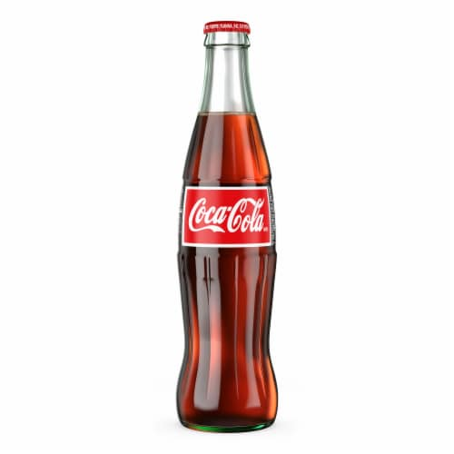 Coca-Cola Glass Bottle Soda Perspective: right