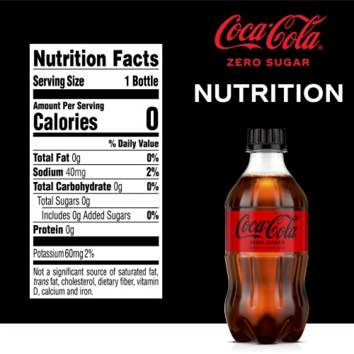 Coca-Cola Zero Sugar Soda Perspective: right