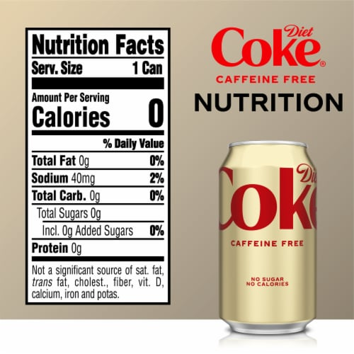 Diet Coke Caffeine Free Cola Soda Perspective: right