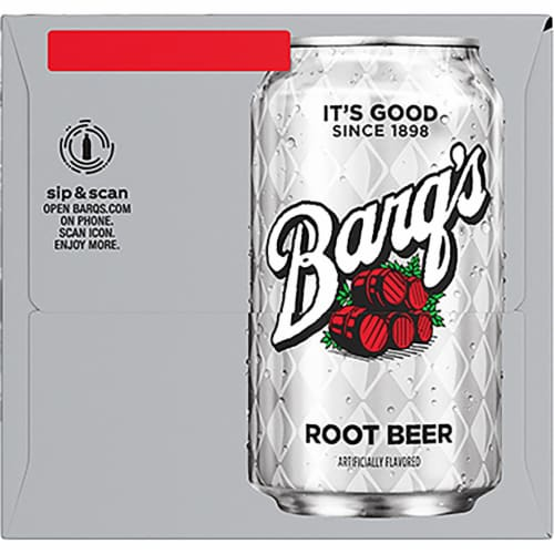 Barq's Root Beer Soda Perspective: right