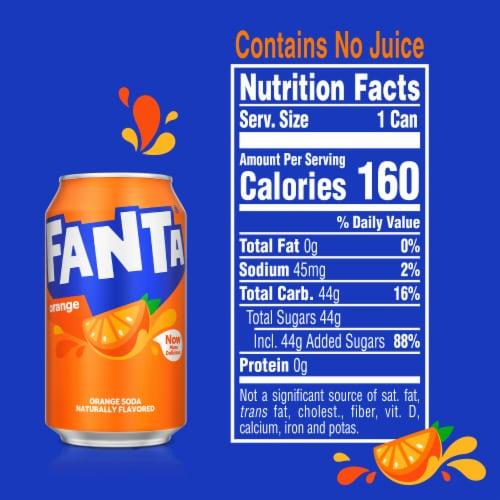 Fanta Orange Soda Fridge Pack Perspective: right