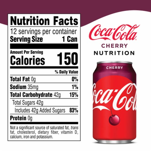 Coca-Cola Cherry Cola Soda Perspective: right