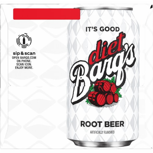 Barq's Diet Root Beer Soda Perspective: right