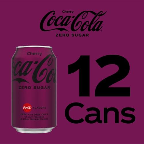Coca-Cola Cherry Zero Sugar Soda Perspective: right