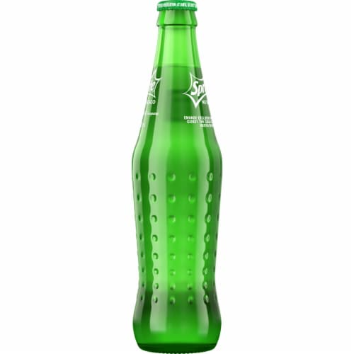 Sprite Mexico Glass Bottle Soda Perspective: right