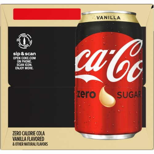 Coca-Cola Vanilla Zero Sugar Soda Perspective: right