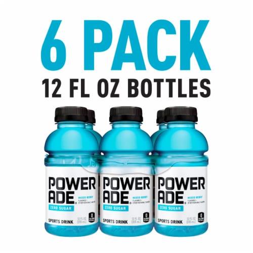 Powerade Zero Sugar Mixed Berry Sports Drinks Perspective: right