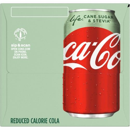 Coca-Cola Life Reduced-Calorie Soda with Stevia Perspective: right