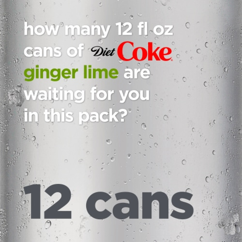 Diet Coke Ginger Lime Soda Perspective: right