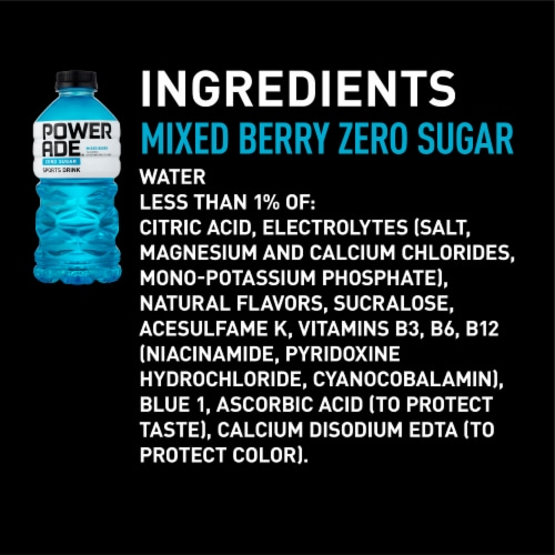 Powerade Zero Sugar Mixed Berry Sports Drink Perspective: right