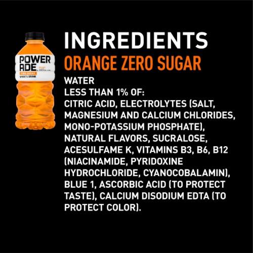 Powerade Zero Sugar Orange Sports Drink Perspective: right