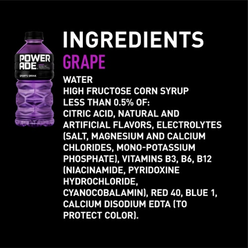 Powerade Grape Sports Drink Perspective: right