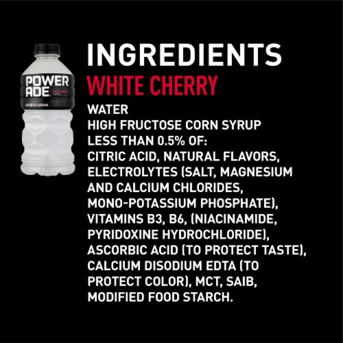 Powerade® White Cherry Flavored Sports Drink Perspective: right
