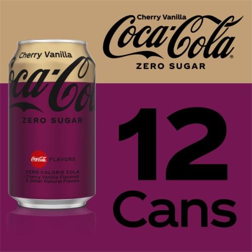 Coca-Cola Cherry Vanilla Zero Sugar Cola Soda Perspective: right