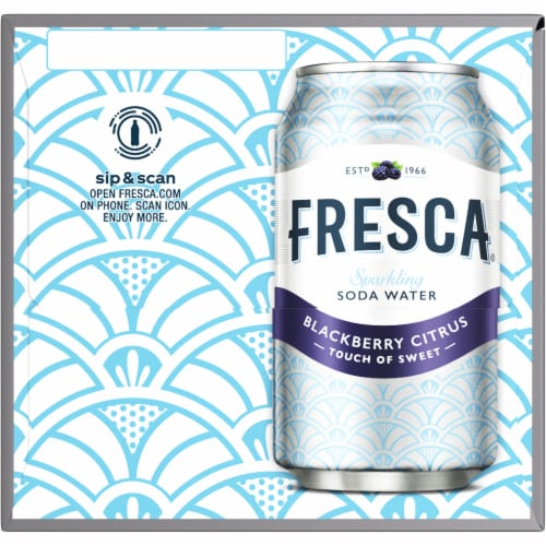 Fresca Blackberry Citrus Sparkling Soda Water Perspective: right