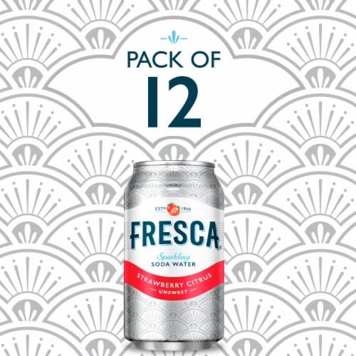 Fresca Strawberry Citrus Sparkling Soda Water Perspective: right