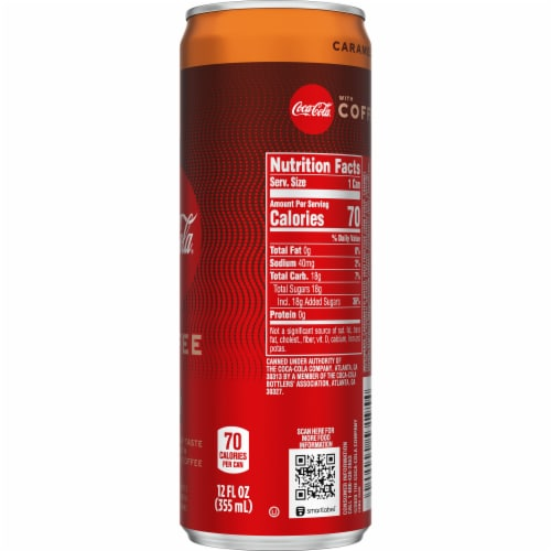 Coca-Cola with Coffee Caramel Soda Perspective: right