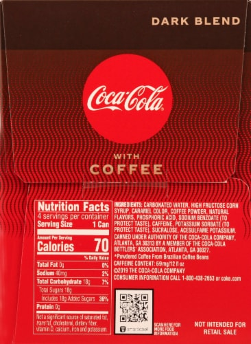 Coca-Cola with Coffee Dark Blend Beverage Perspective: right