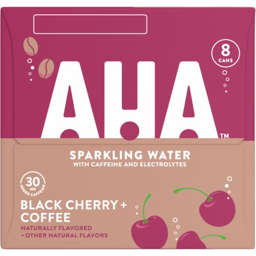 AHA Black Cherry + Coffee Sparkling Water Perspective: right