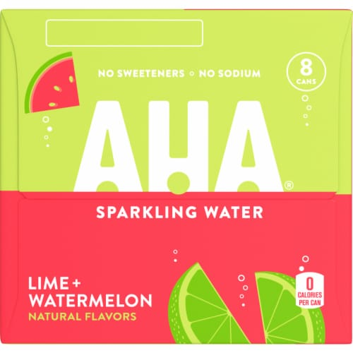 AHA Lime + Watermelon Sparkling Water Perspective: right