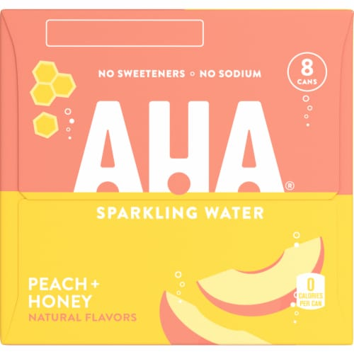 AHA Peach + Honey Sparkling Water Perspective: right