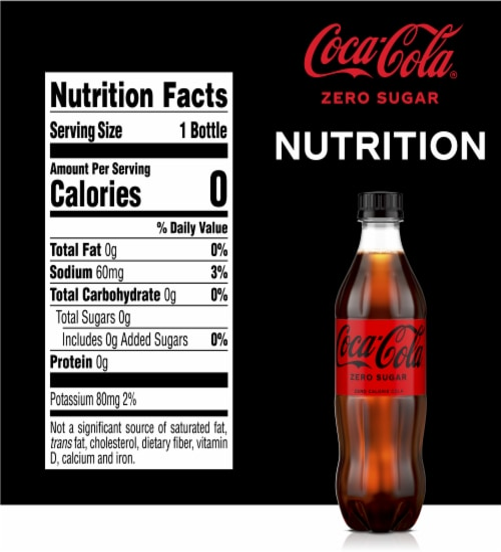 Coca-Cola Zero Sugar Cola Soda Perspective: right