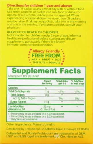 I-Health Culturelle® Kids Purely Probiotics® Packets Perspective: right