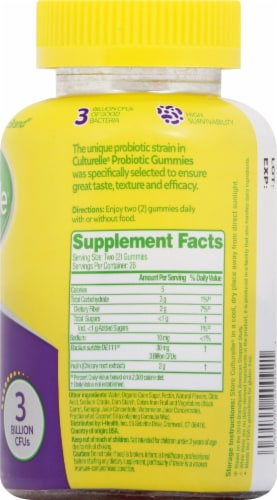 Culturelle Mixed Berry Probiotic Gummies Perspective: right