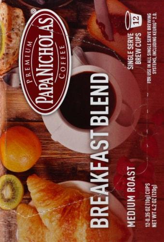 Papa Nicholas Breakfast Blend Medium Roast Coffee Single Serve Brew Cups Perspective: right