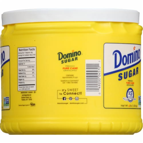 Domino Granulated Sugar Canister Perspective: right