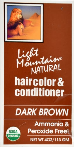 Light Mountain Natural Dark Brown Hair Color & Conditioner Perspective: right