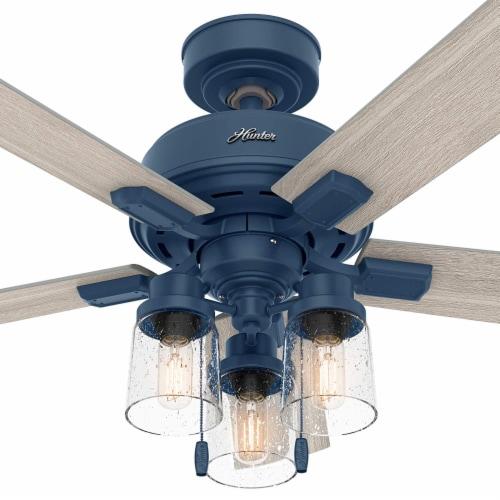 Hunter Fan Company Hartland 44 Inch Small Room Ceiling Fan w/ LED Light, Indigo Perspective: right