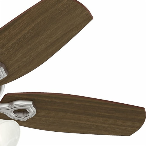 Hunter 42 Inch Traditional Builder Ceiling Fan with 3 LED Lights, Brushed Nickel Perspective: right